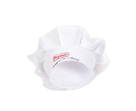 Czapka ochronna białaz napisem