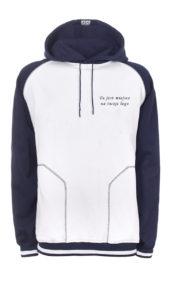 odzież dresowa robocza haftowana Bluza dresowa biało-czarno-szara
