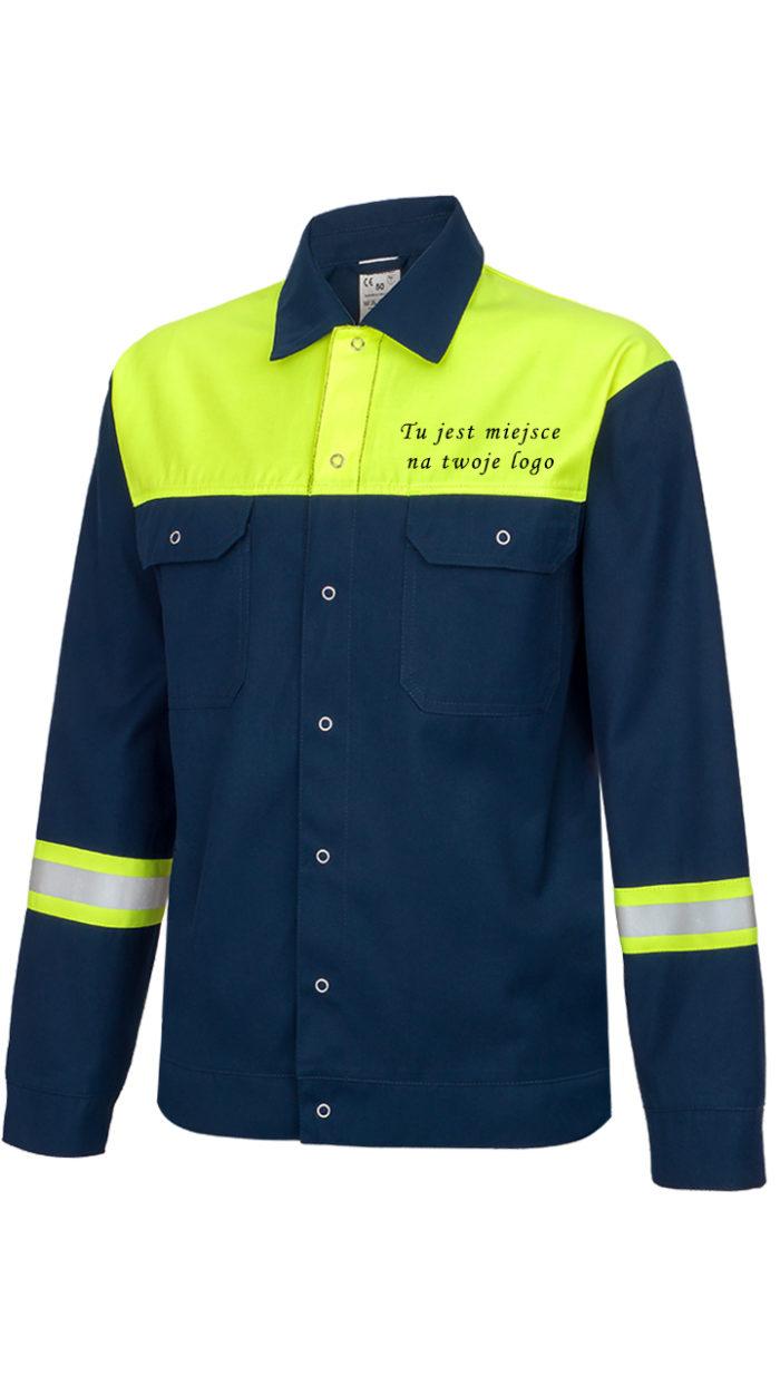 Bluza robocza ze znakami ostrzegawczymi
