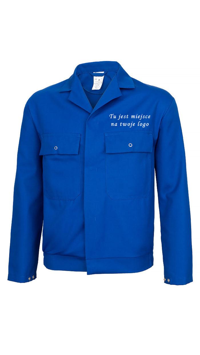 Niebieska bluza robocza