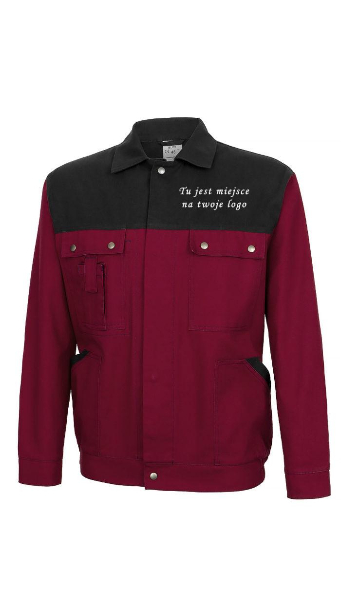 Bluza robocza czarno- bordowa