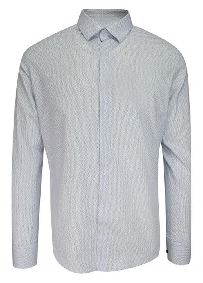 Koszula wizytowa szaro -biała